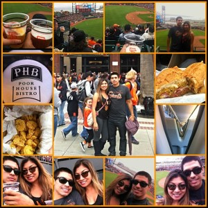 An Instagram image of one couple's trip to the Giants game via Caltrain.