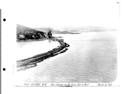 """Bay Shore R. R. View looking North from Sierra Point. March 31, 1905"""