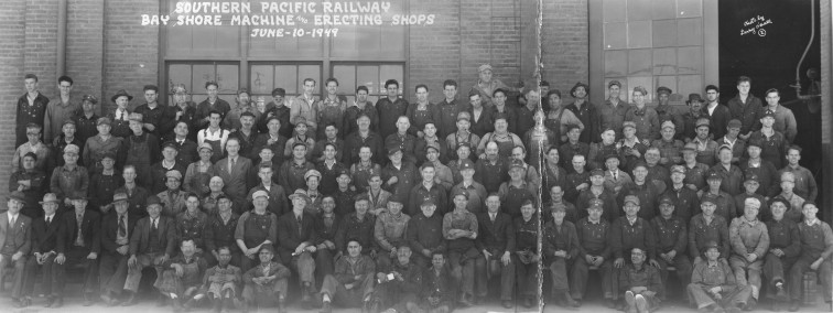 Panoramic photo of the Bayshore workers, June 10, 1949.