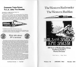 Short article about the closing of the roundhouse (bottom left) in the Western Railroader newsletter.