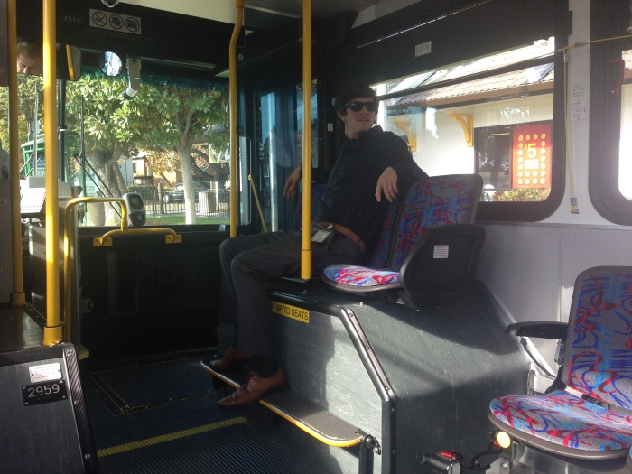 The cool elevated seat on the 2900-series buses.