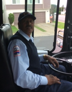 SamTrans operator Uday Singh provided limousine service  aboard Route 121.
