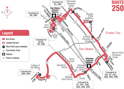 Route 250 Map